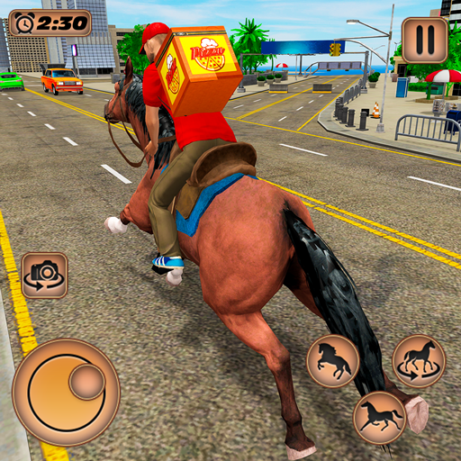 Mounted Horse Riding Pizza Guy Food Delivery Game MOD Unlimited Money 1.0.2
